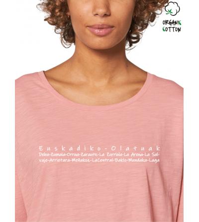 Camiseta algodón orgánico M/L_STTW114_CanyonPink_1821